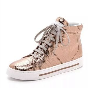 Marc Jacobs metallic rose gold High top sneaker 36